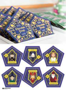 Harry Potter Chocolate Frogs – Free Printable Template For throughout Chocolate Frog Card Template