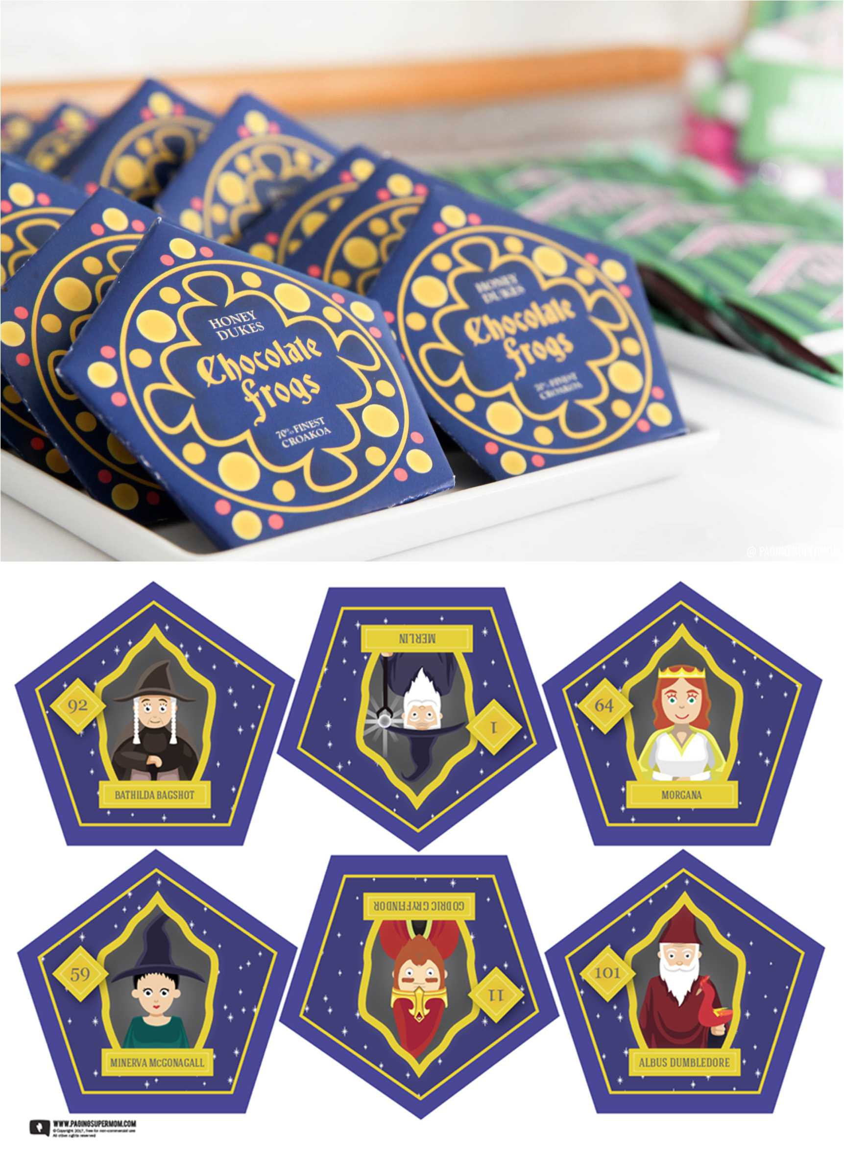 Harry Potter Chocolate Frogs - Free Printable Template For Throughout Chocolate Frog Card Template