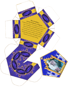 Harry Potter Paraphernalia: Chocolate Frogs Box Template pertaining to Chocolate Frog Card Template