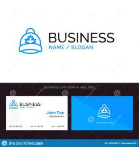 Hat, Cap, Leaf, Canada Blue Business Logo And Business Card inside Dominion Card Template