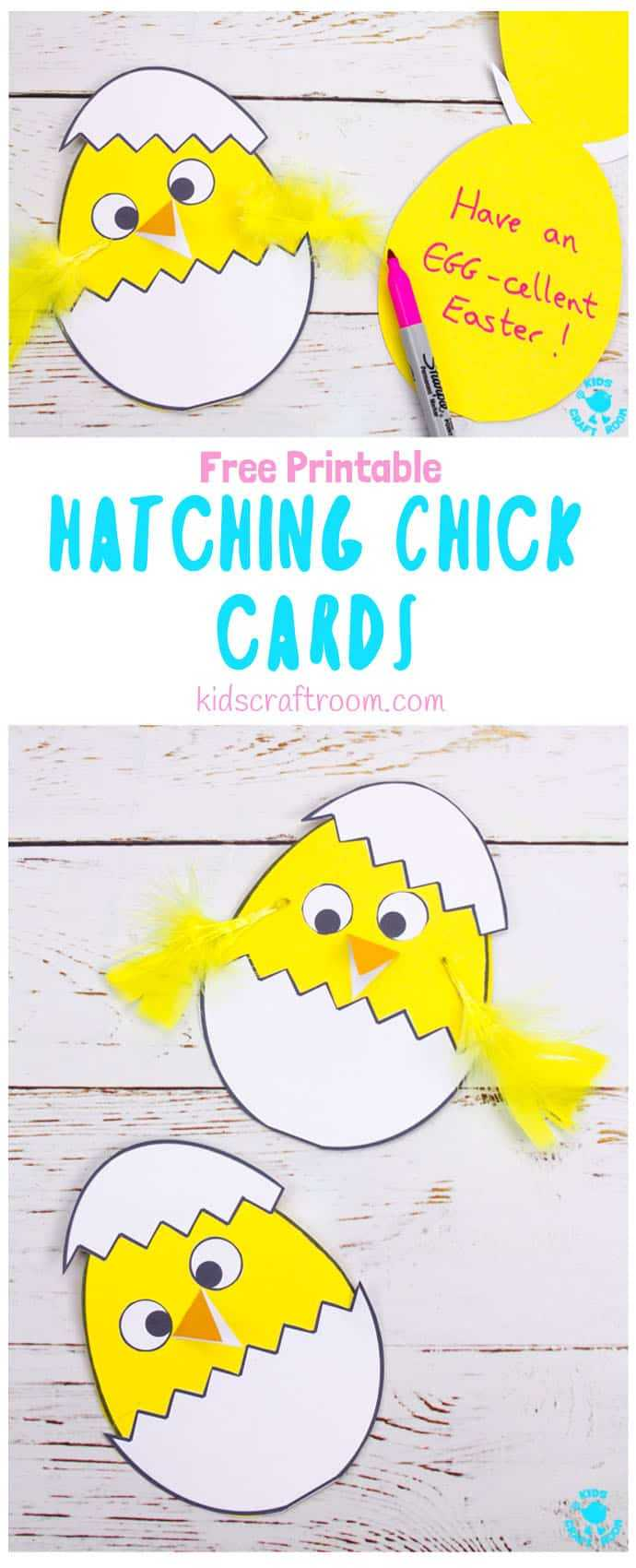 Hatching Chick Easter Card Craft - Kids Craft Room Pertaining To Easter Chick Card Template