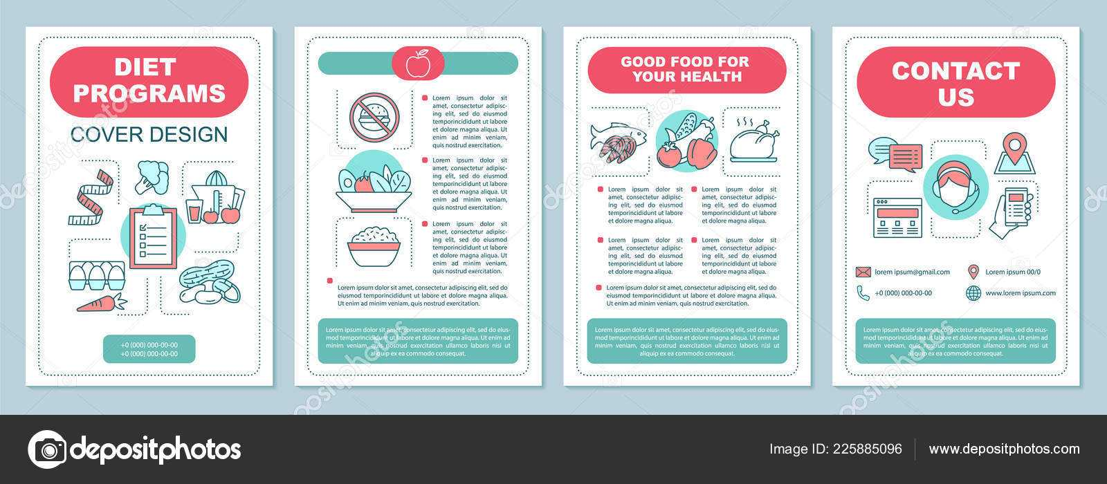 Healthy Nutrition Brochure Template Layout Dieting Program Intended For Nutrition Brochure Template