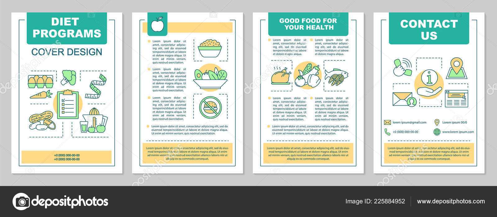 Healthy Nutrition Brochure Template Layout Dieting Program Throughout Nutrition Brochure Template
