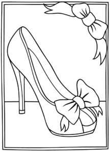 High Heel Drawing Template At Paintingvalley | Explore regarding High Heel Shoe Template For Card