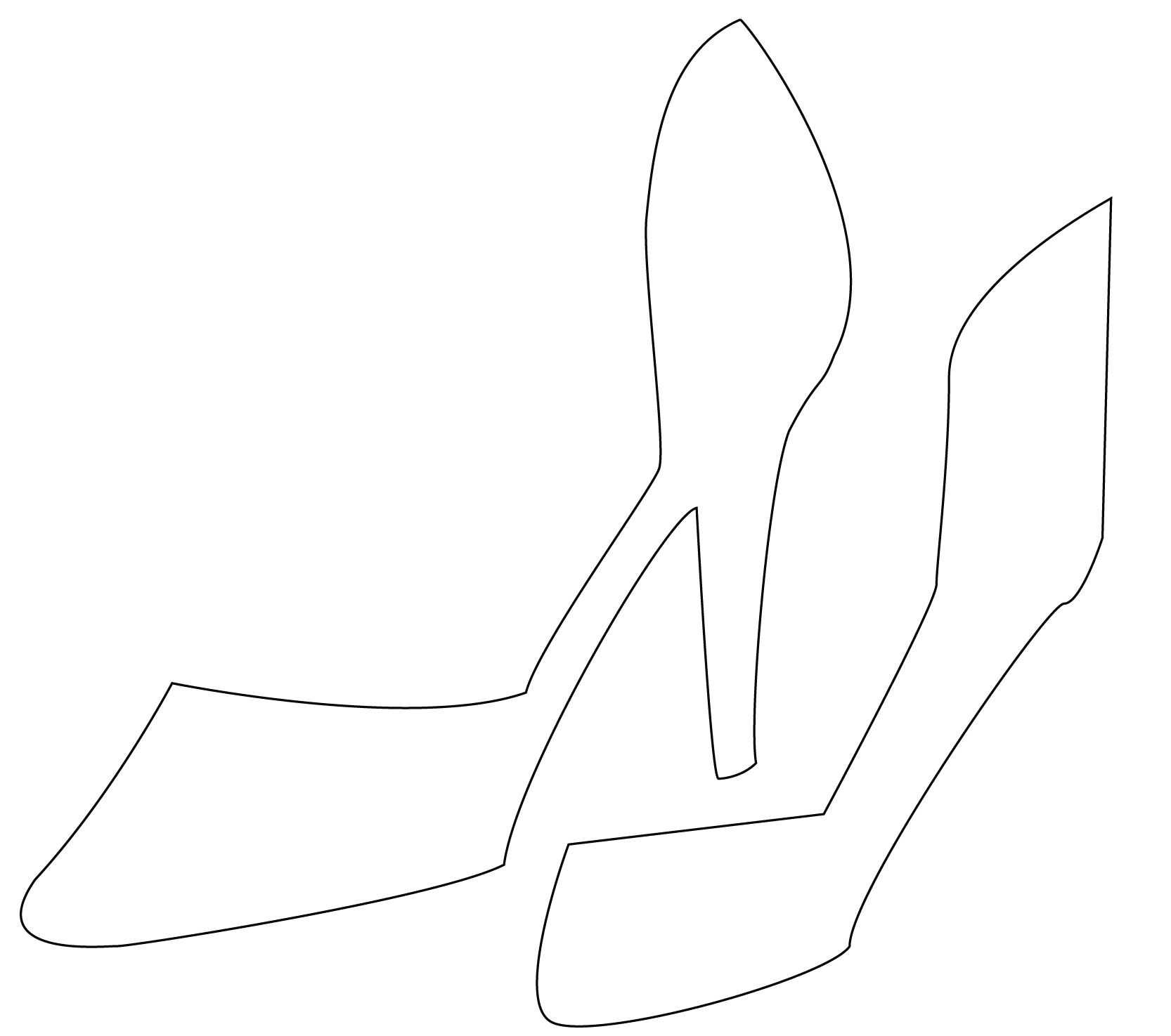 High Heel Drawing Template At Paintingvalley   Explore Regarding High Heel Template For Cards