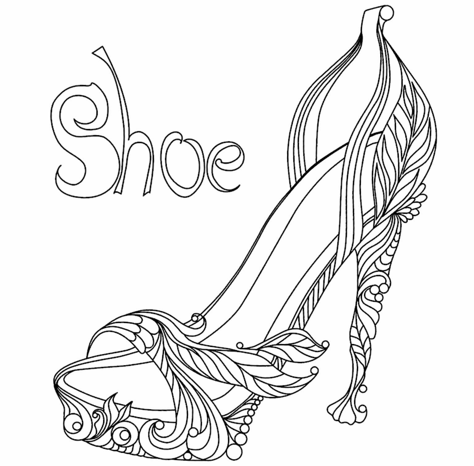 High Heel Drawing Template At Paintingvalley | Explore Within High Heel Shoe Template For Card