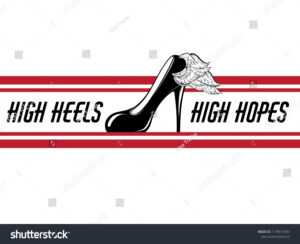 High Heels High Hopes Vector Hand Stock Vector (Royalty Free pertaining to High Heel Shoe Template For Card