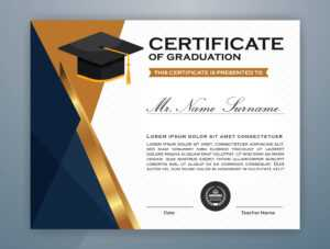 High School Diploma Certificate Template Design – Download in College Graduation Certificate Template