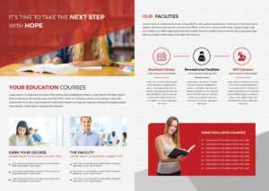 Higher Educational Brochure Template within Brochure Design Templates For Education