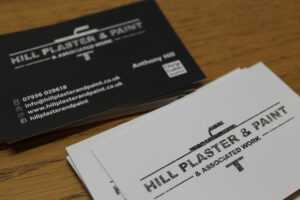 Hill Plaster And Paint Business Cards – Rockover Design in Plastering Business Cards Templates