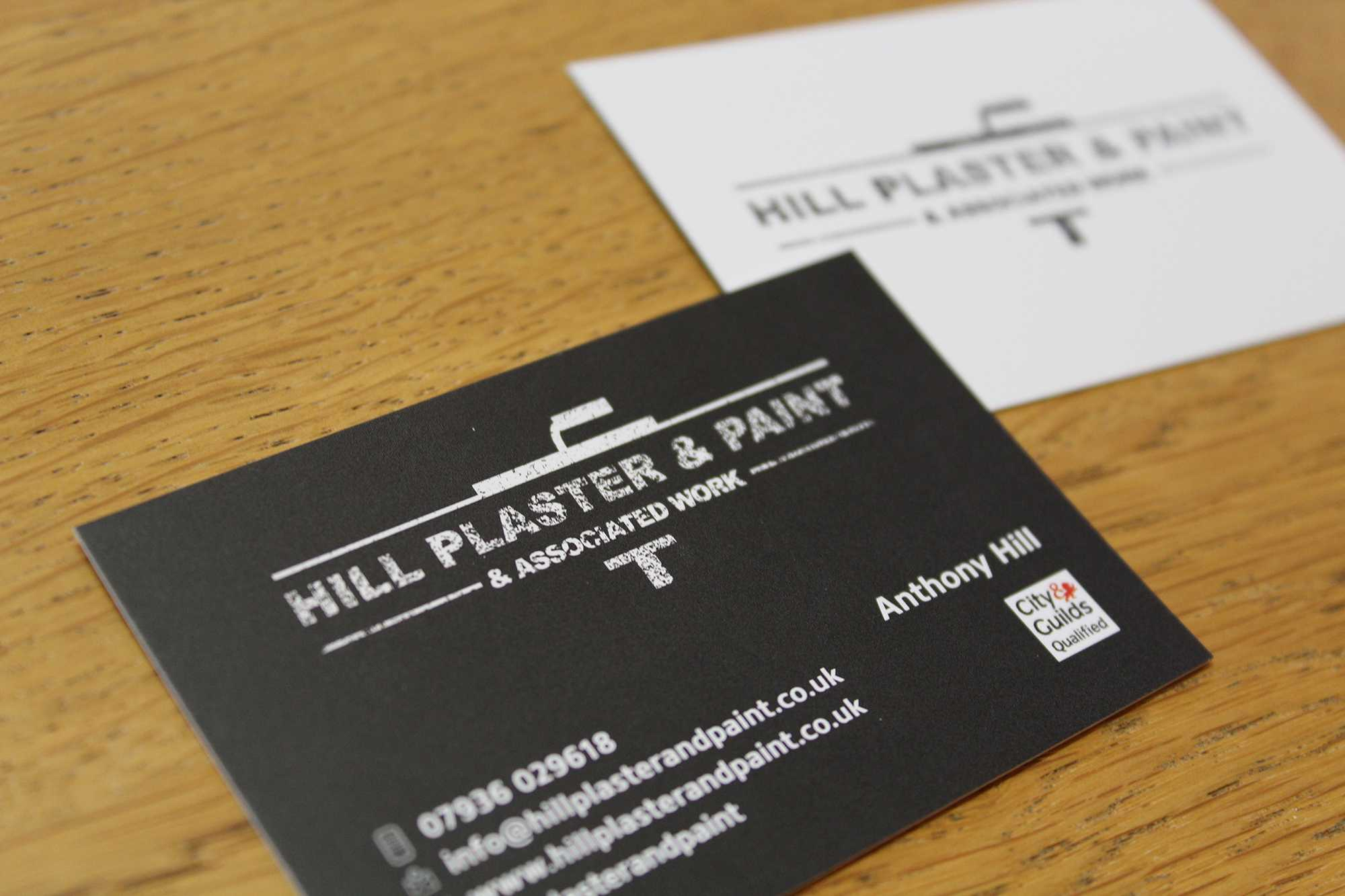 Hill Plaster And Paint Business Cards - Rockover Design Pertaining To Plastering Business Cards Templates