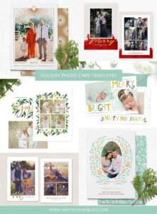Holiday & Christmas Photo Card Templates For Photographers pertaining to Holiday Card Templates For Photographers