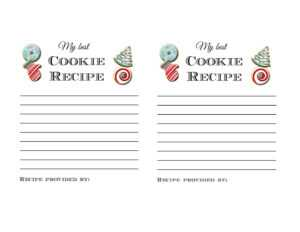 Holiday Cookie Exchange Party Printables And Ideas Tips With Cookie Exchange Recipe Card Template