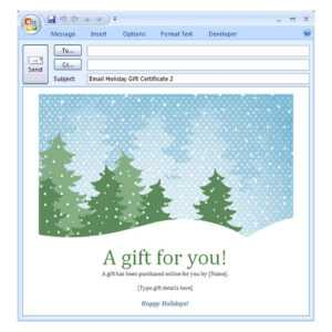 Holiday Email Template | Free Holiday Email Template pertaining to Holiday Card Email Template