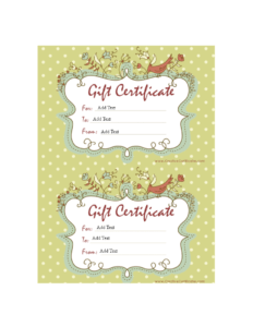 Homemade Gift Certificate Word | Templates At regarding Homemade Gift Certificate Template
