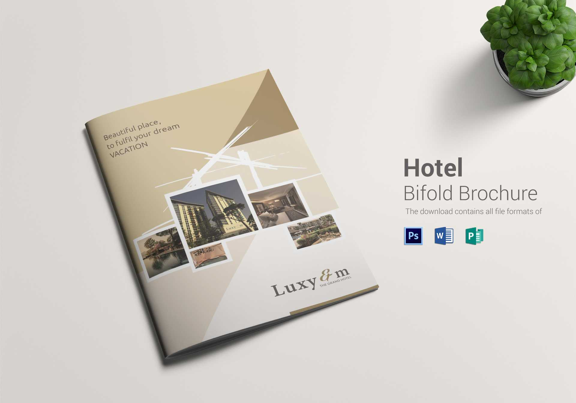 Hotel Bi Fold Brochure Template With Regard To Hotel Brochure Design Templates
