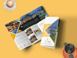Hotel & Resort – Bifold Brochure Template | Searchmuzli for Hotel Brochure Design Templates