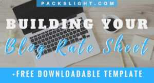 How To Build A Blog Social Media Rate Card (+Free Template in Advertising Rate Card Template