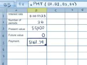 How To Calculate Credit Card Payments In Excel: 10 Steps pertaining to Credit Card Interest Calculator Excel Template