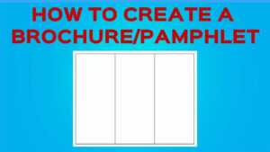 How To Create A Brochure/pamphlet On Google Docs intended for Google Docs Brochure Template