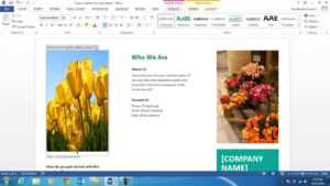 How To Create A Brochure Using Ms Word 2013 regarding Office Word Brochure Template