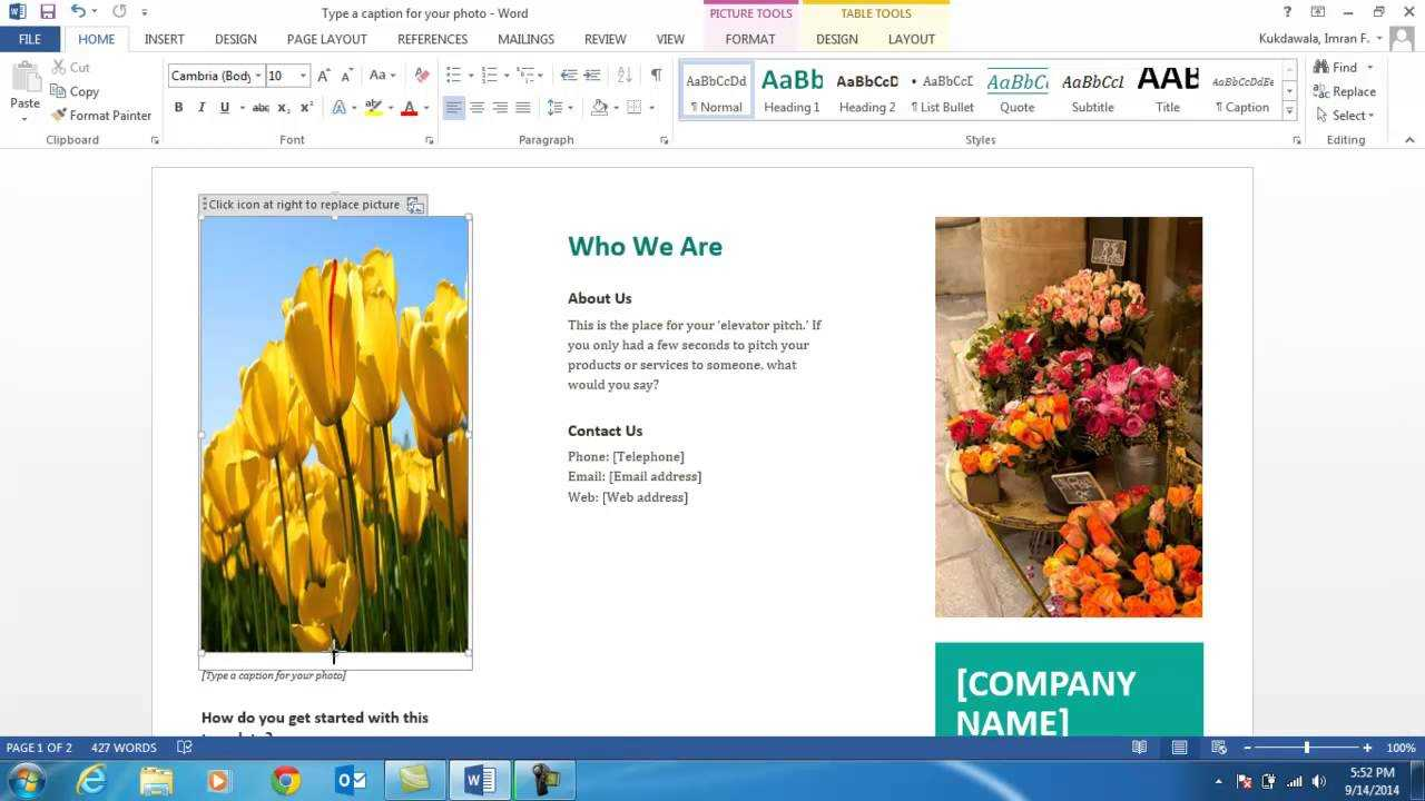 How To Create A Brochure Using Ms Word 2013 Regarding Word 2013 Brochure Template