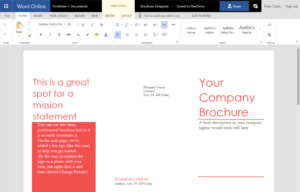 How To Create A Trifold Brochure In Word Online with Office Word Brochure Template