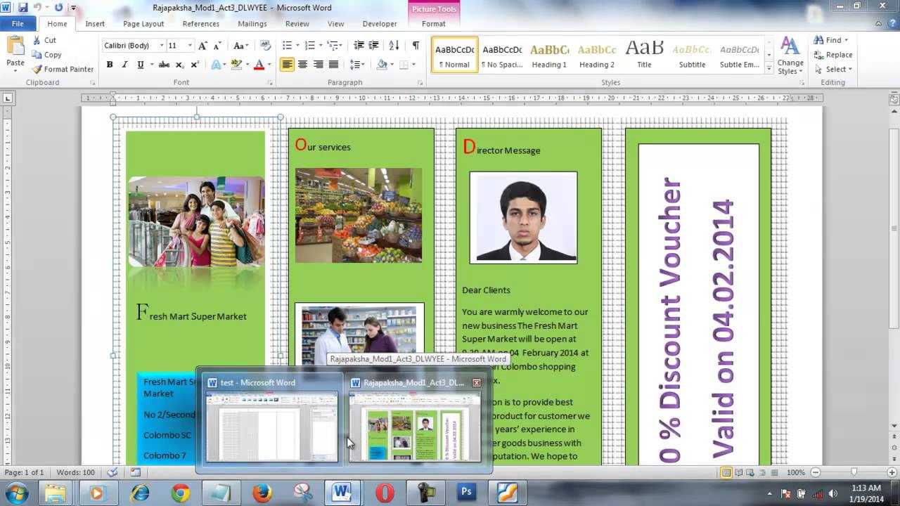 How To Create Brochure Using Microsoft Word Within Few Minutes Regarding Office Word Brochure Template