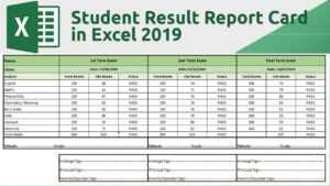 How To Create Student Result Report Card In Excel 2019 with Homeschool Report Card Template Middle School
