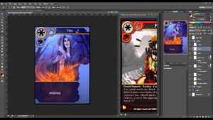 How To Create Trading Cards In Photoshop with regard to Card Game Template Maker