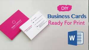 How To Create Your Business Cards In Word – Professional And Print-Ready In  4 Easy Steps! for Front And Back Business Card Template Word