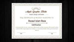 How To Design A Certificate Template – Adobe Illustrator Tutorial for Indesign Certificate Template