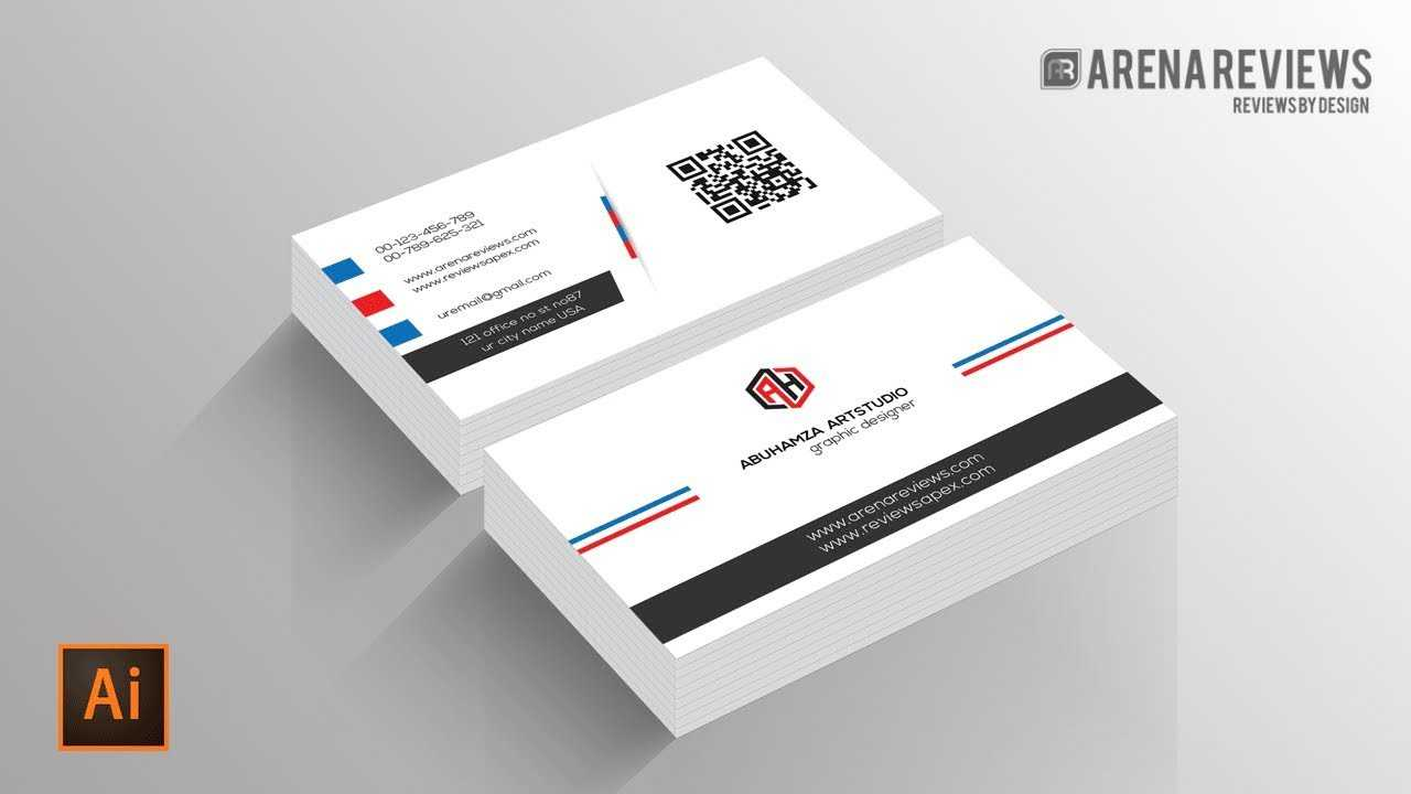 How To Design Business Card Template Illustrator Cc Tutorial With Regard To Adobe Illustrator Business Card Template