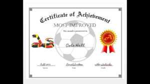 How To Easily Make A Certificate Of Achievement Award With Ms Word inside Soccer Certificate Templates For Word