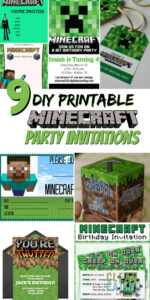 How To Host A (Cheap!) Minecraft Birthday Party (With in Minecraft Birthday Card Template