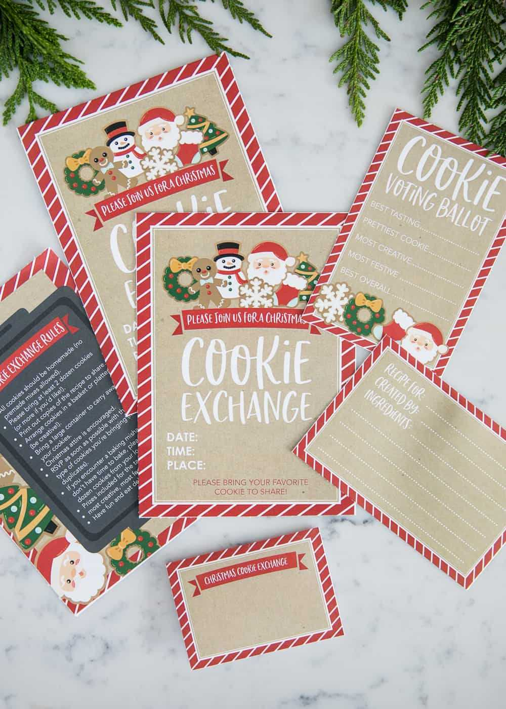 How To Host A Cookie Exchange (W/ Free Printables!) – I Throughout Cookie Exchange Recipe Card Template