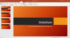 How To Increase Powerpoint Slide Number Size pertaining to Powerpoint Presentation Template Size