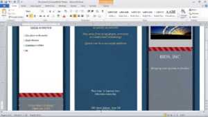 How To Make A Brochure In Microsoft Word regarding Brochure Templates For Word 2007
