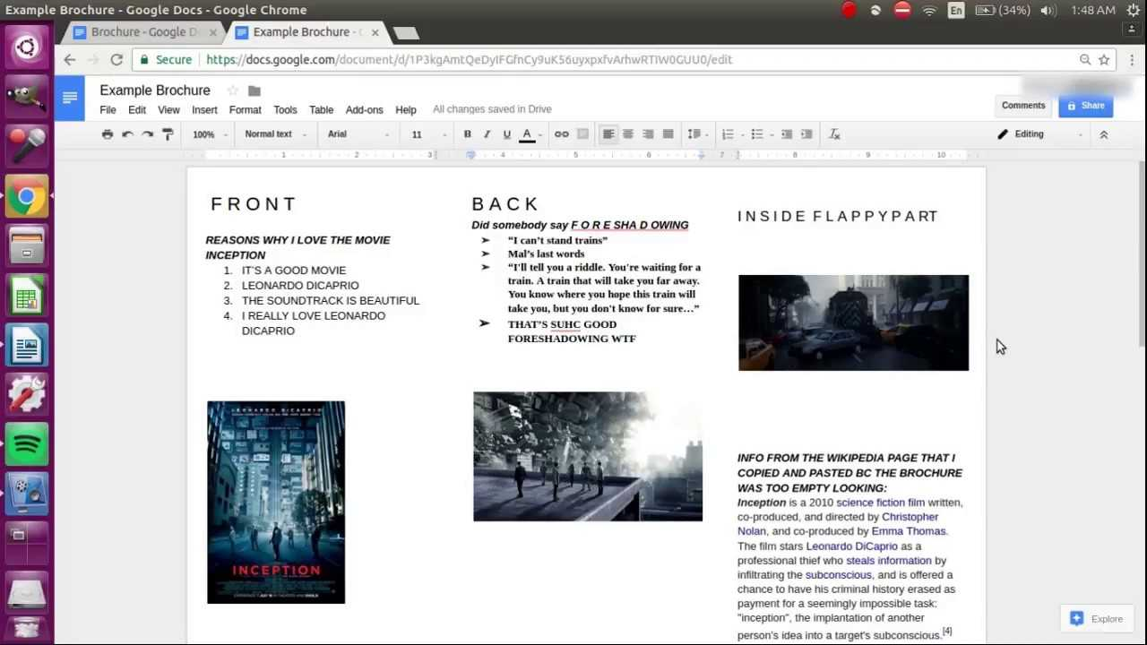 How To Make A Brochure On Google Docs For Science Brochure Template Google Docs
