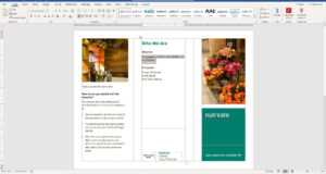 How To Make A Brochure On Microsoft Word intended for Word 2013 Brochure Template