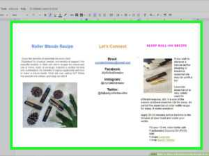 How To Make A Brochure Using Google Docs (With Pictures inside Google Drive Brochure Template