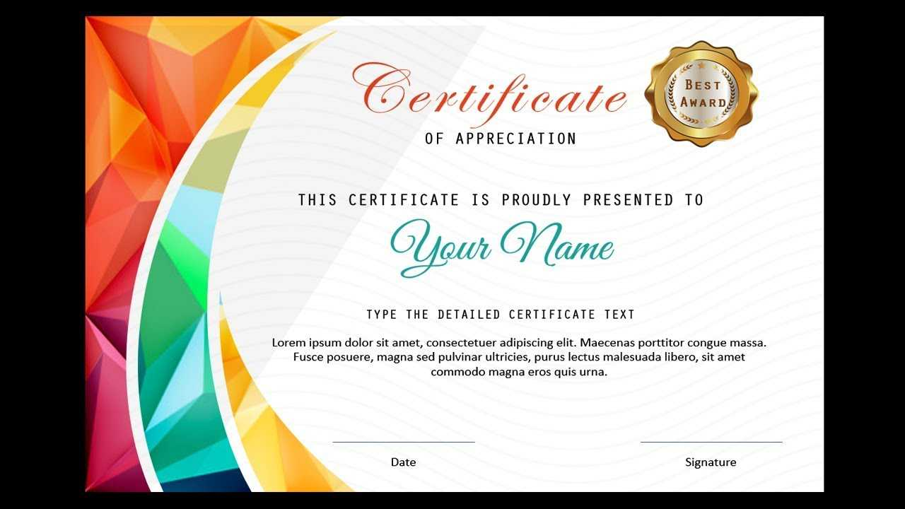 How To Make A Certificate In Powerpoint/professional Certificate  Design/free Ppt With Regard To Award Certificate Template Powerpoint