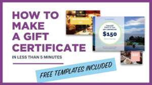 How To Make A Gift Certificate (Free Template Included) for Microsoft Gift Certificate Template Free Word