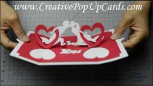 How To Make A Valentines Day Pop Up Card: Twisting Hearts with regard to Twisting Hearts Pop Up Card Template