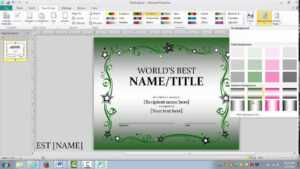How To Make An Awards Certificate In Publisher In Award Certificate Templates Word 2007