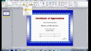 How To Make Certificate Using Microsoft Publisher Intended For Award Certificate Templates Word 2007