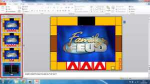 How To Make Powerpoint Games Family Feud intended for Family Feud Game Template Powerpoint Free