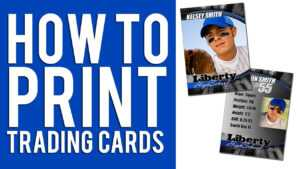 How To Print Custom Trading Cards Tutorial with Baseball Card Template Microsoft Word