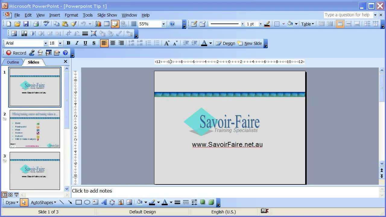 How To Save A Powerpoint Presentation As An Automatic Slideshow -  Powerpoint 2003 For How To Save Powerpoint Template
