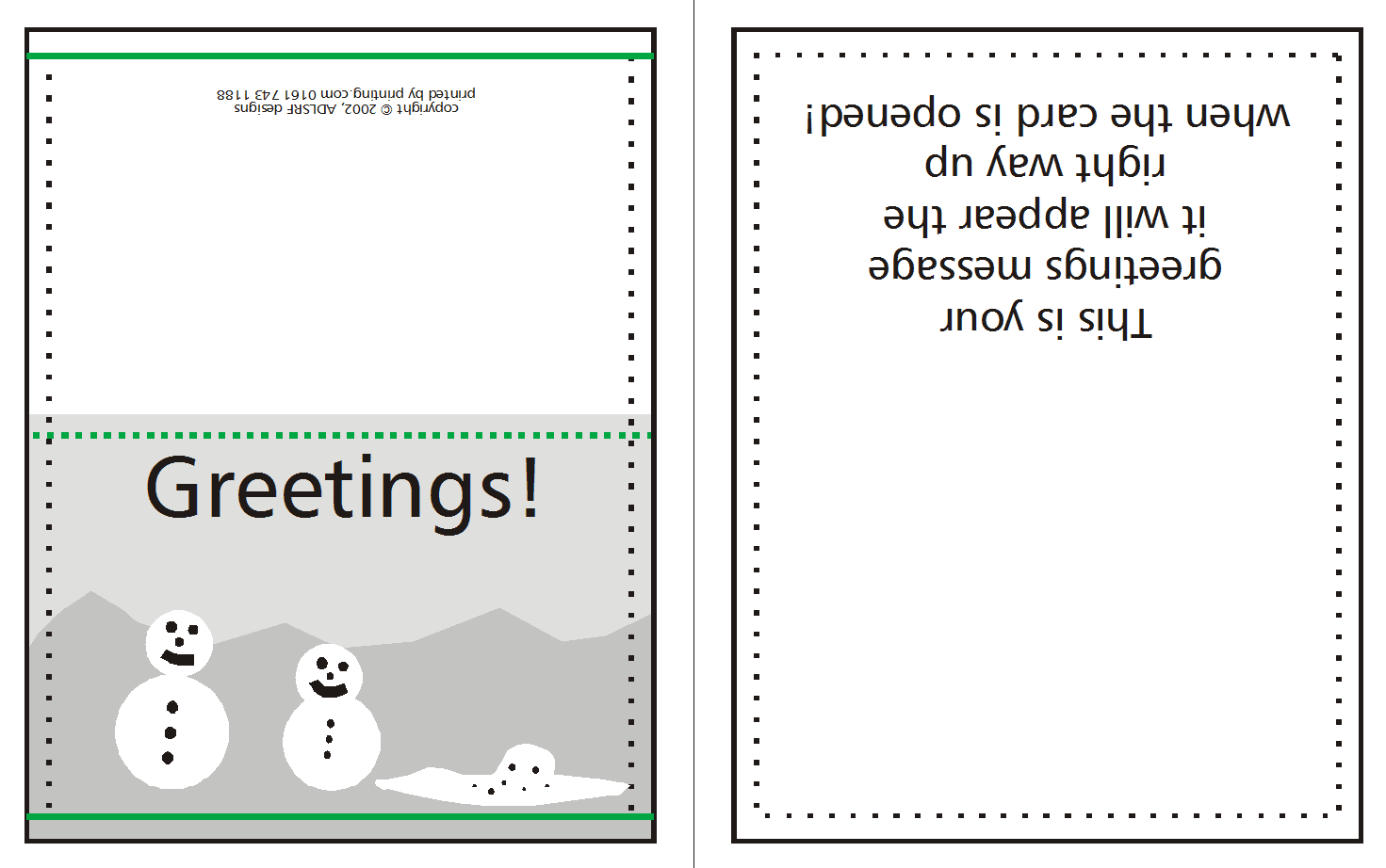How To Supply Greeting/christmas Cards | Printing Uk With Quarter Fold Greeting Card Template